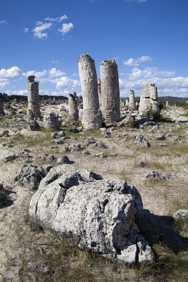 Floresta de pedra perto de Varna, Bulgária fotografia de stock royalty free