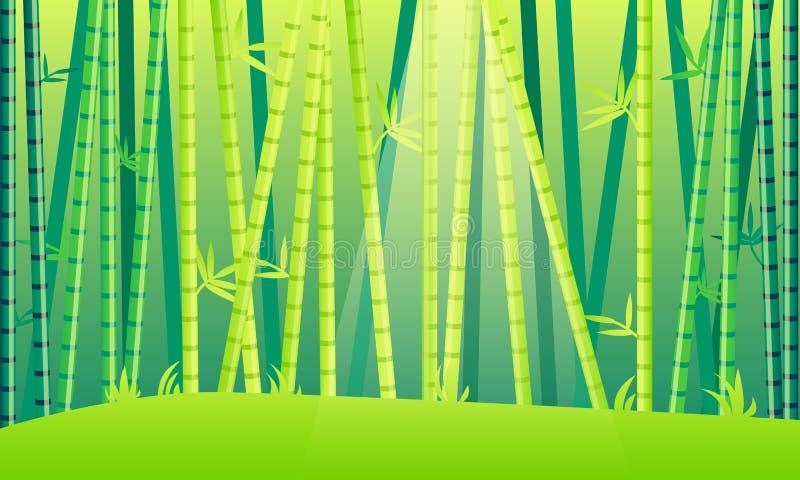 Floresta do bambu da paisagem ilustração stock