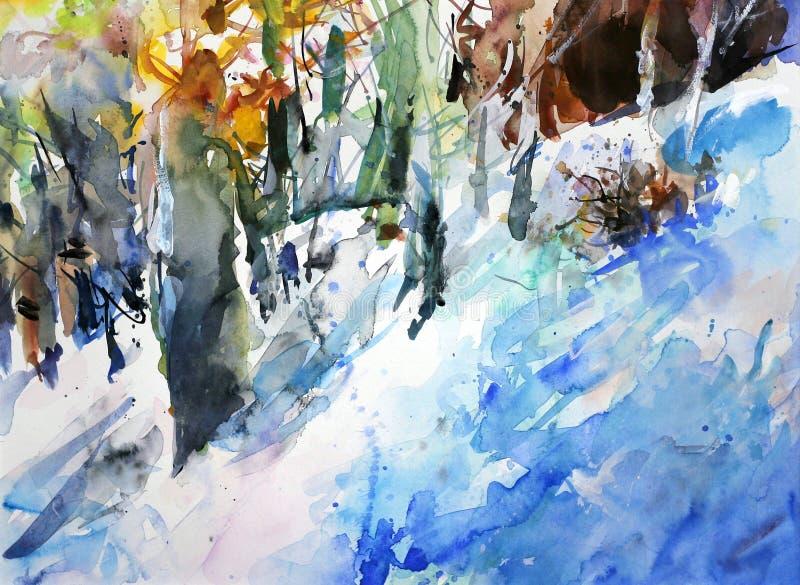 Floresta do inverno ilustração stock