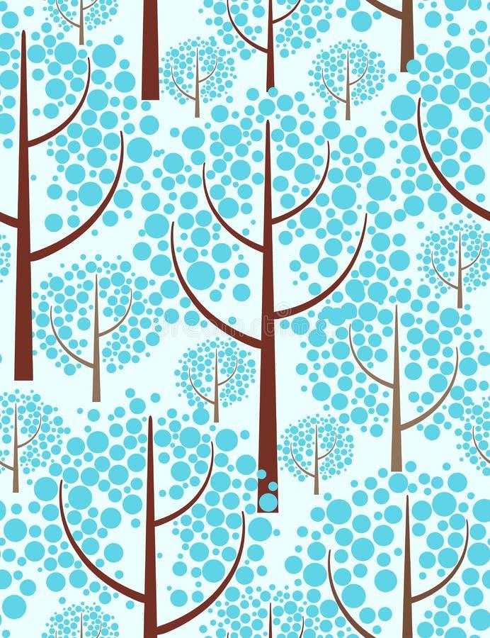 Floresta do inverno. ilustração royalty free