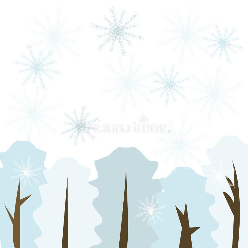 Floresta do inverno ilustração do vetor