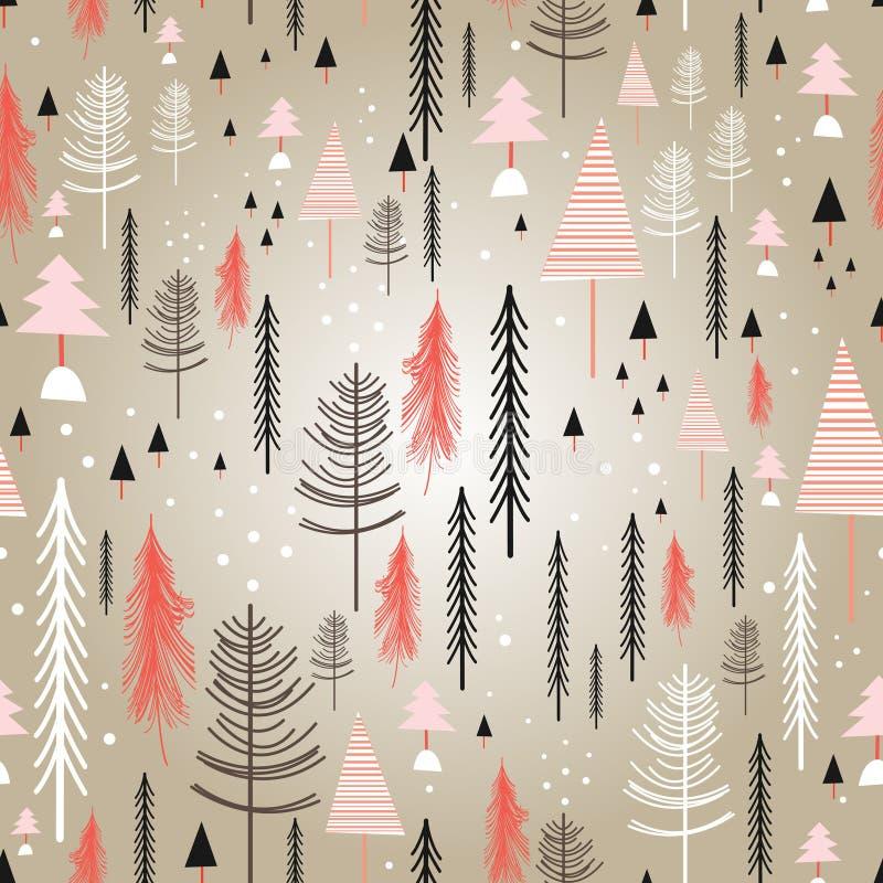 Floresta do inverno da textura ilustração do vetor