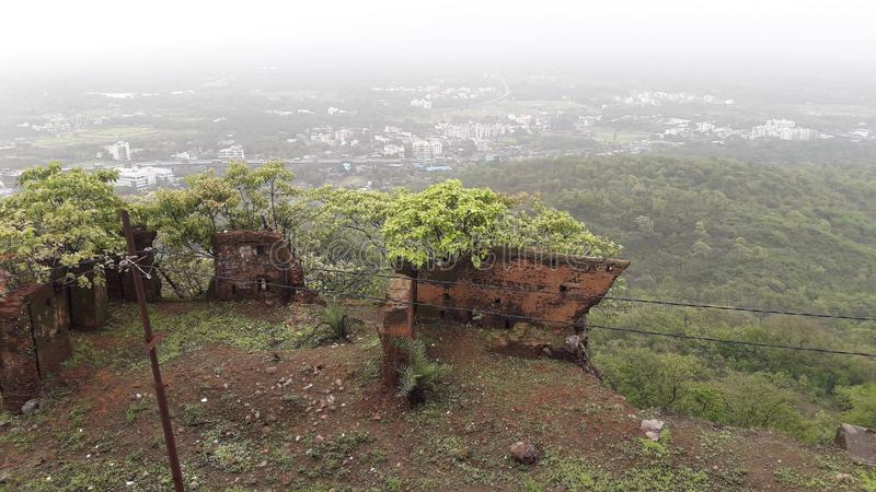 Floresta do monte de Parnera na Índia 'beauti de Gujarat do valsad do valsad ' imagem de stock