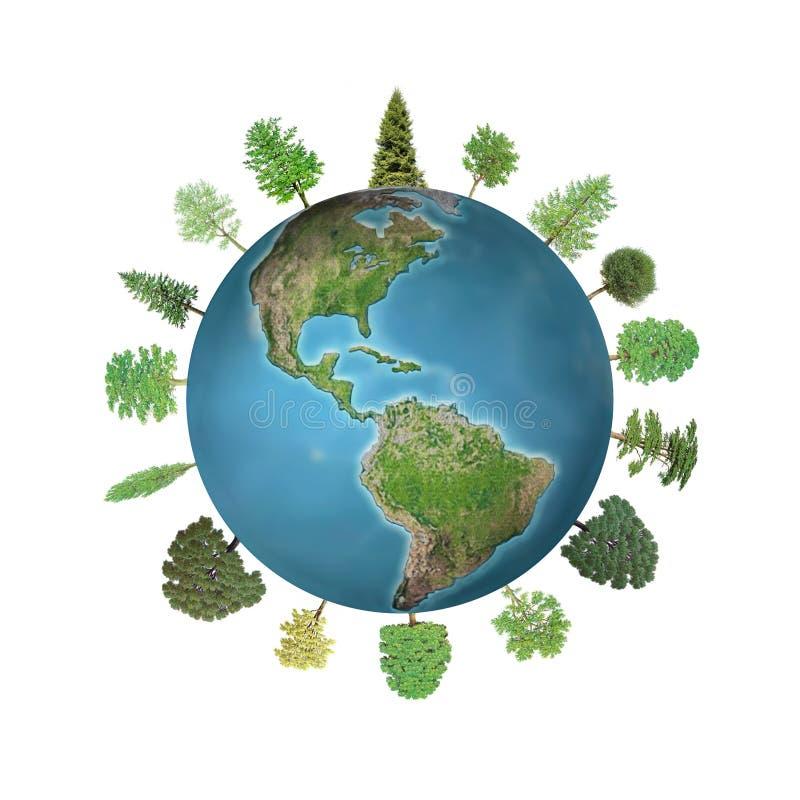 Floresta do mundo ilustração stock