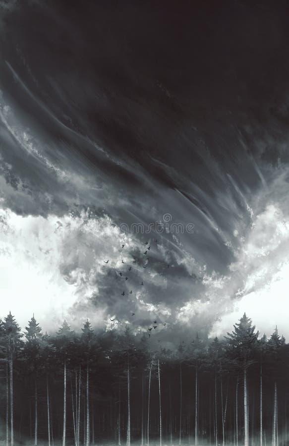 Floresta dramática do furacão imagem de stock royalty free
