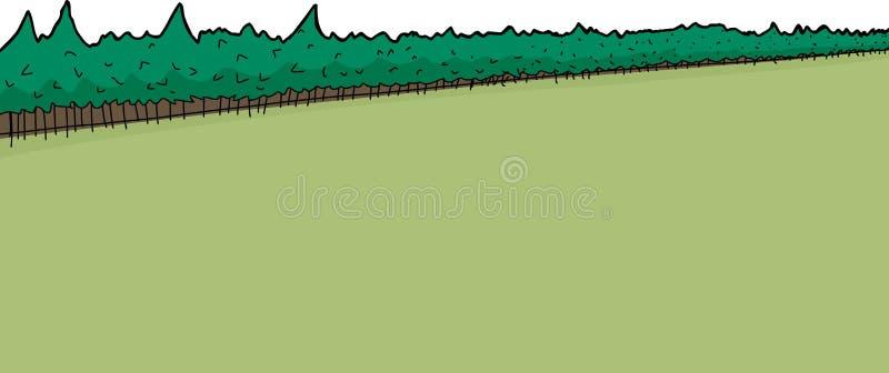 Floresta e campo do pinheiro ilustração royalty free