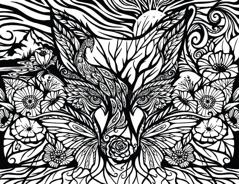 A floresta Enchanted ilustração royalty free