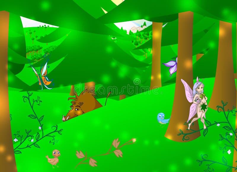 Floresta Enchanted ilustração royalty free