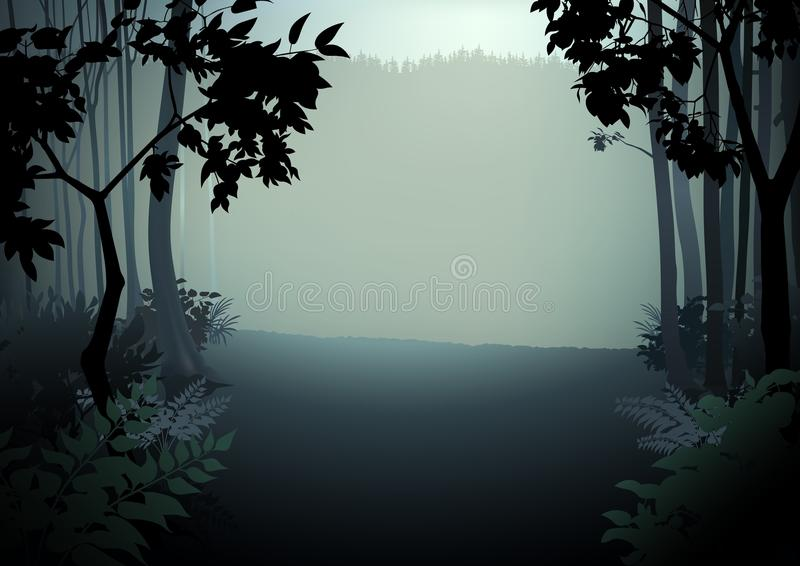 Floresta escura ilustração royalty free