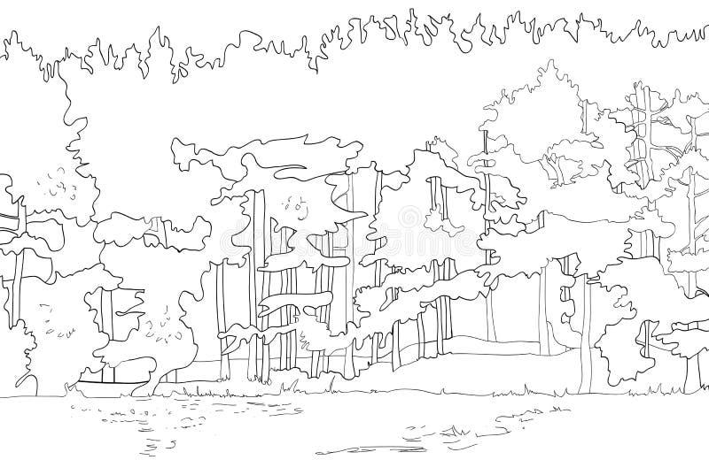 A floresta ilustração royalty free