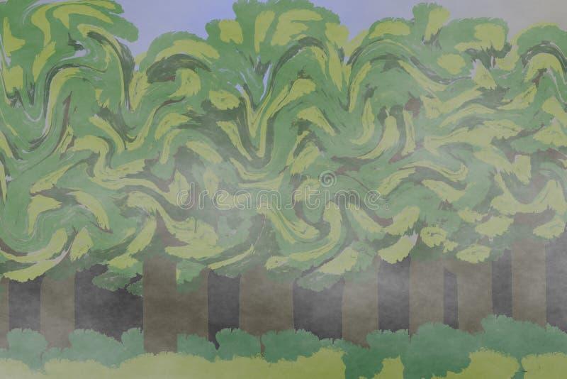 Floresta Largo-com folhas ilustração royalty free