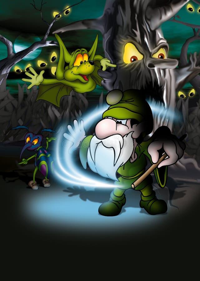 Floresta mágica ilustração royalty free