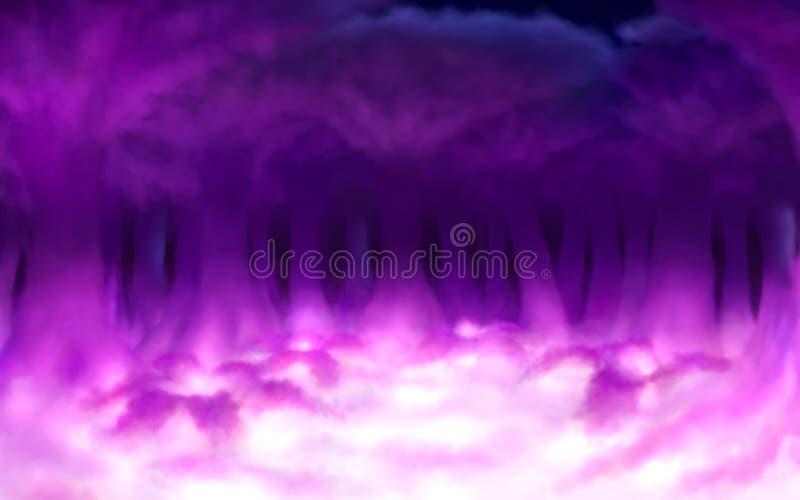 Floresta mágica da nuvem ilustração stock