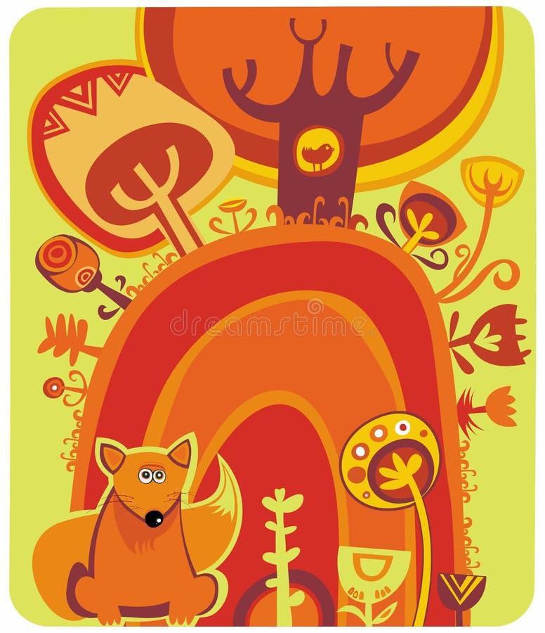Floresta mágica do outono ilustração royalty free