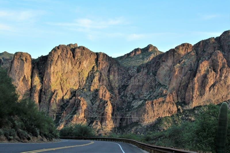 Floresta nacional de Tonto, o Arizona U S Ministério da Agricultura, Estados Unidos imagem de stock