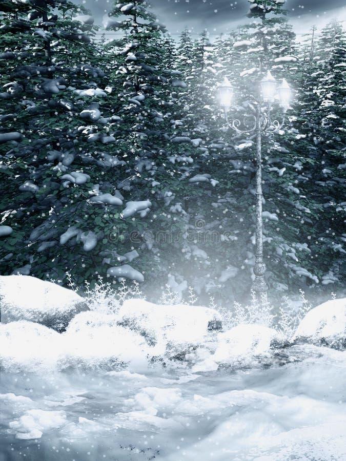 Download Floresta nevado ilustração stock. Ilustração de pinho - 16871194