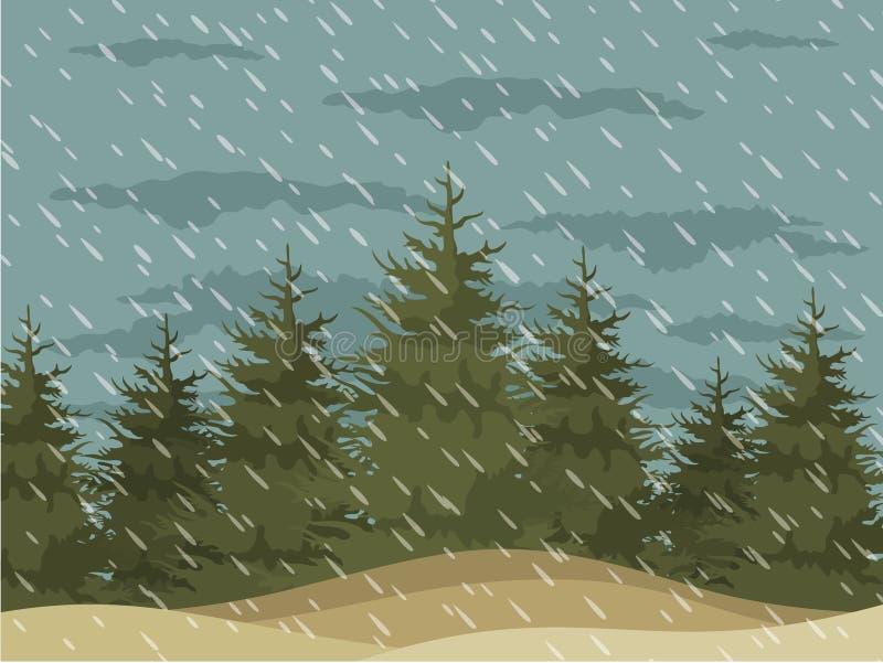 Floresta outonal ilustração royalty free