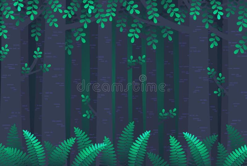 Floresta simples ilustração royalty free