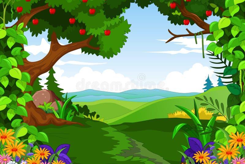Floresta verde da beleza para você projeto ilustração stock