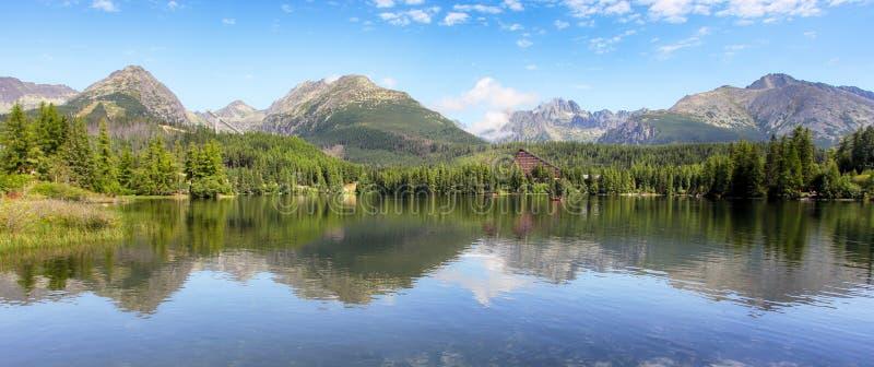 Floresta verde de Tatras - Strbske pleso, Eslováquia imagem de stock royalty free