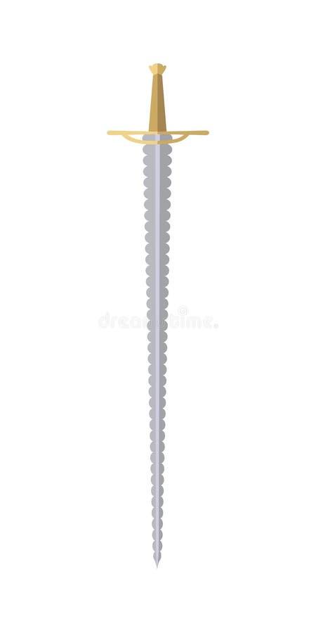 Florete do jogo dos desenhos animados isolado no branco ilustração royalty free