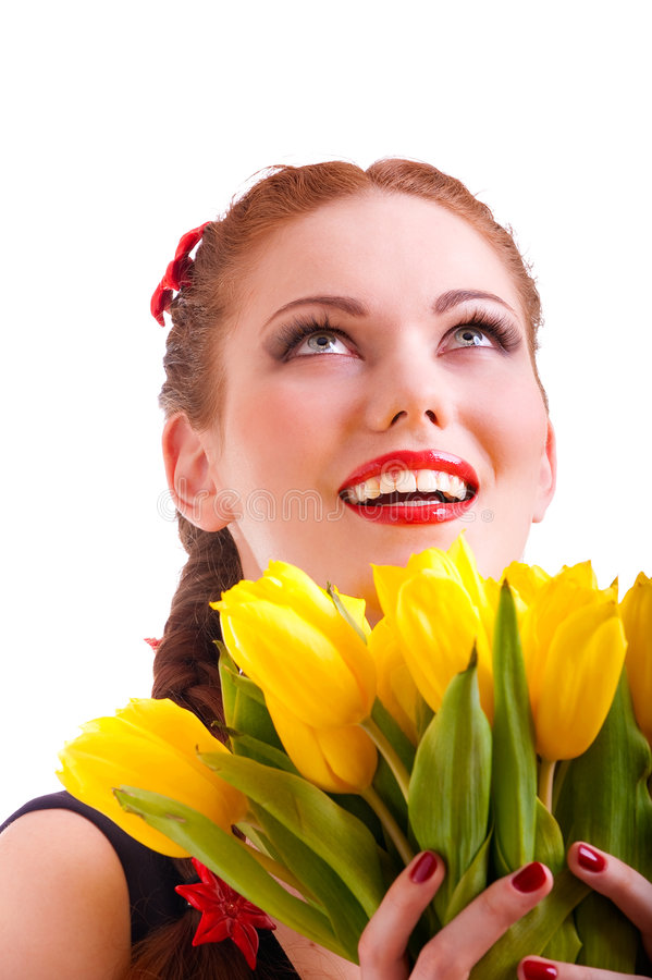 Florets κορίτσι κίτρινο Στοκ εικόνα με δικαίωμα ελεύθερης χρήσης