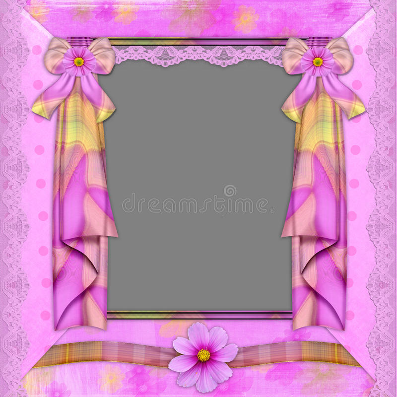florets inramniner violeten vektor illustrationer