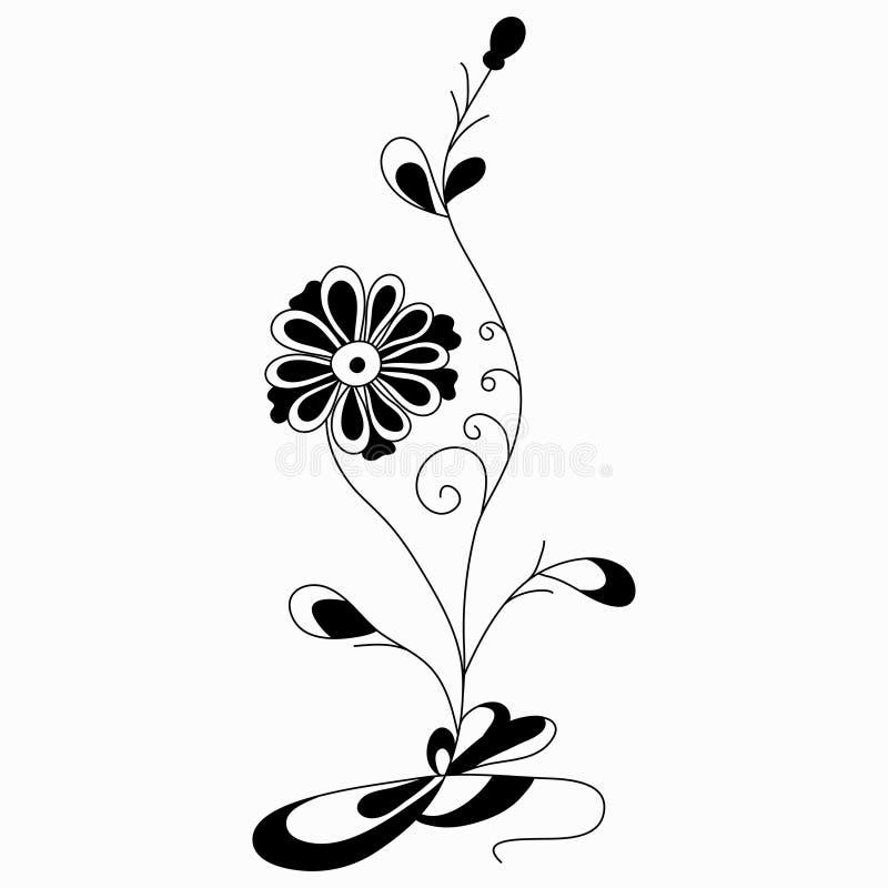 Florezca el ejemplo abstracto del vector de un estilo clásico en un fondo blanco ilustración del vector