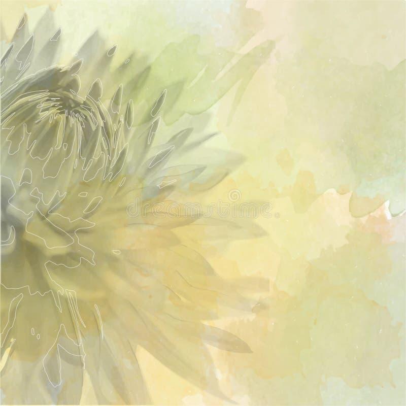 Florezca el fondo en color en colores pastel suave en estilo de la falta de definición stock de ilustración
