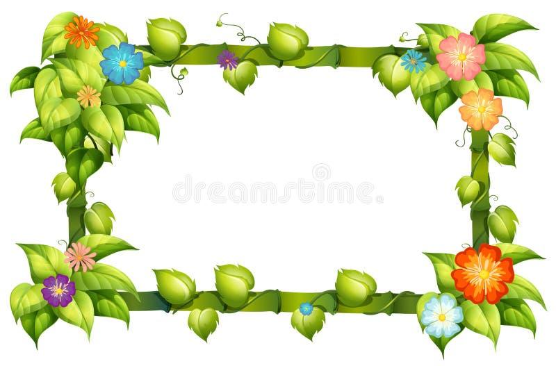 Florezca el marco libre illustration