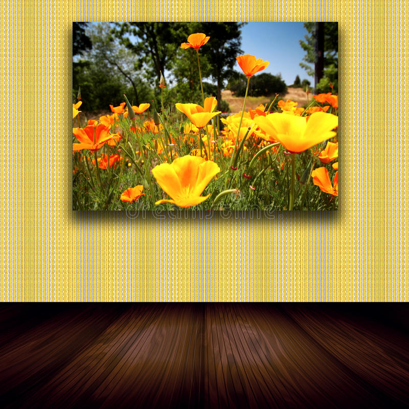 Florezca la foto en la pared libre illustration