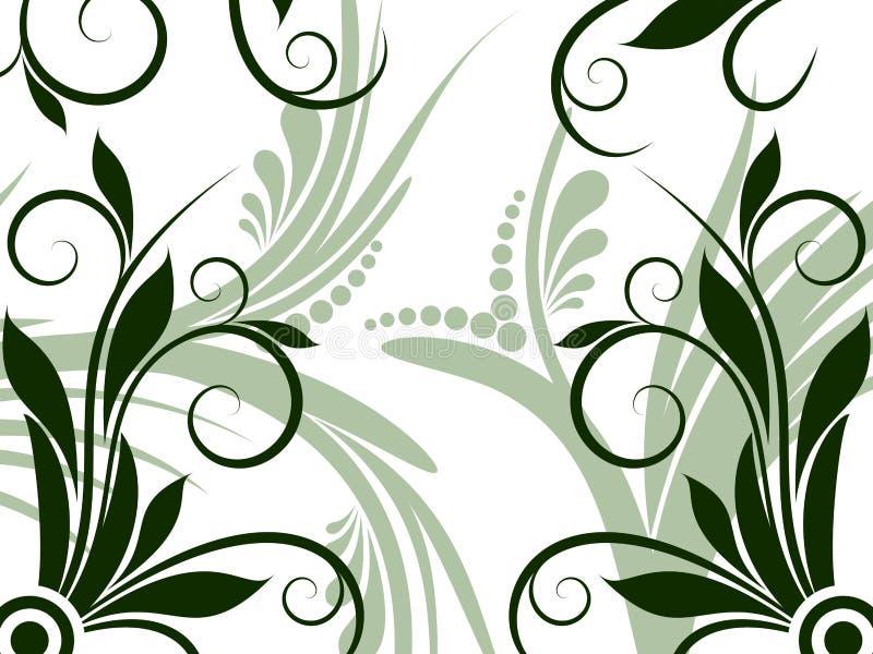 Florezca y remoline fondo del diseño ilustración del vector
