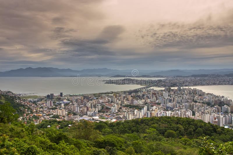 Florianopolis Brazil. On summer, blue sky stock image