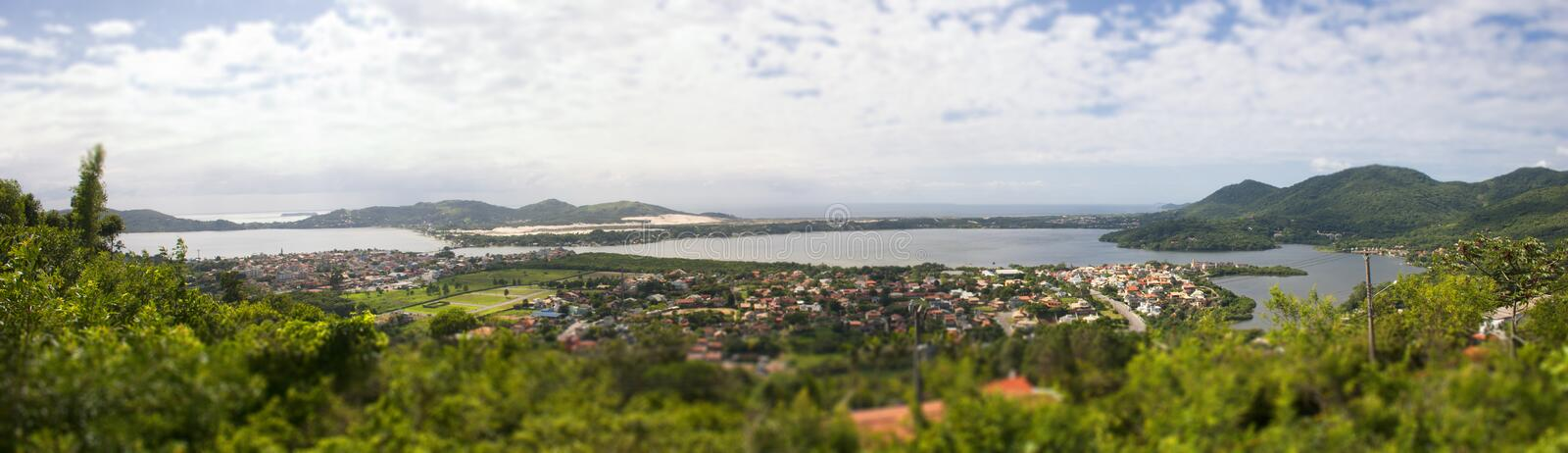 Florianopolis from high angle view royalty free stock photo