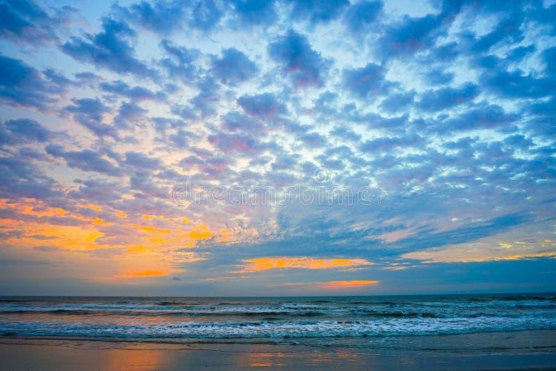 Florida atlantic beach sun rise. Florida atlantic beach and sun rise royalty free stock images
