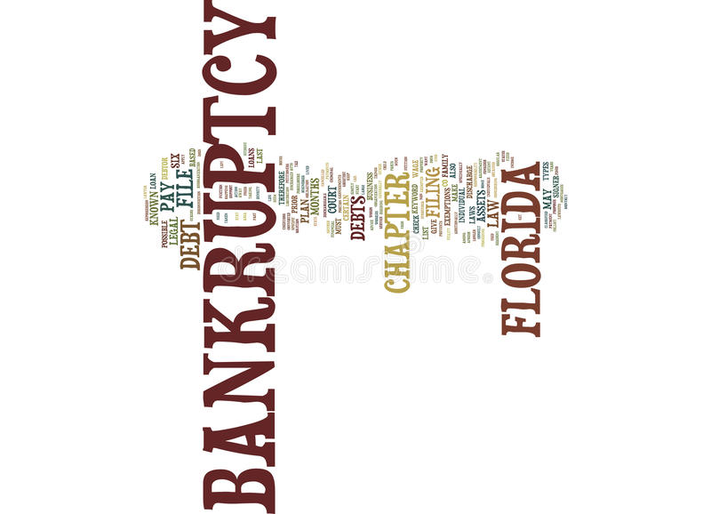 Florida Bankruptcy Text Background Word Cloud Concept royalty free illustration