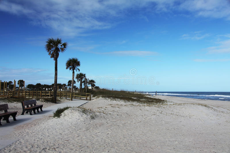 Florida beach. Sunshine Florida beach in the summer time stock images