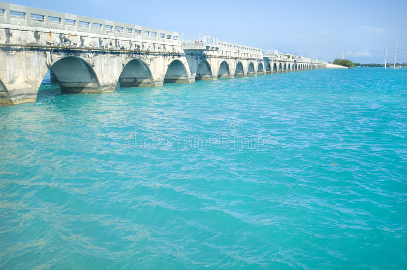 Florida befestigt Brücke lizenzfreie stockfotografie