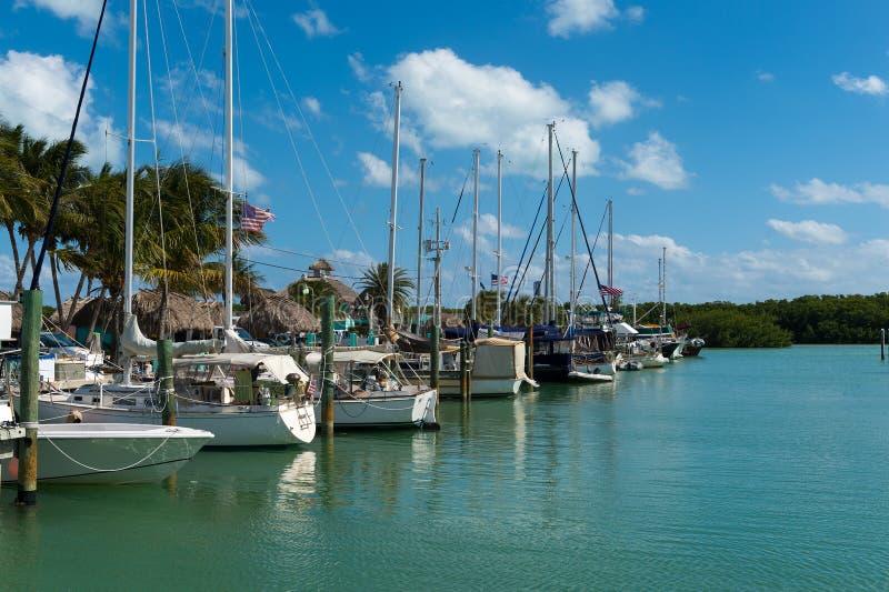 Florida befestigt Jachthafen lizenzfreie stockfotografie
