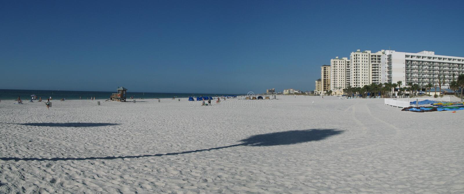 Florida Clearwater Beach. Panoramic of Clearwater beach in Florida stock image