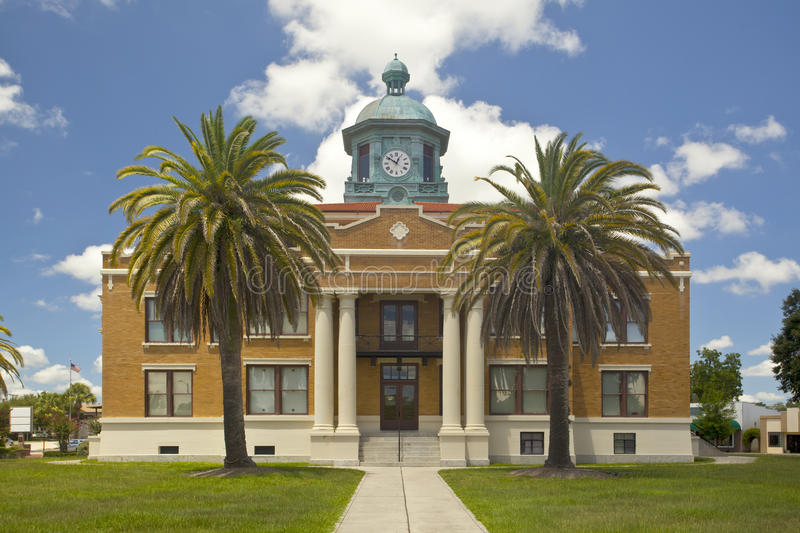 Florida Courthouse. Small town courthouse in Inverness Florida. The courthouse was used in the 1961 Elvis Presley movie Follow That Dream royalty free stock images