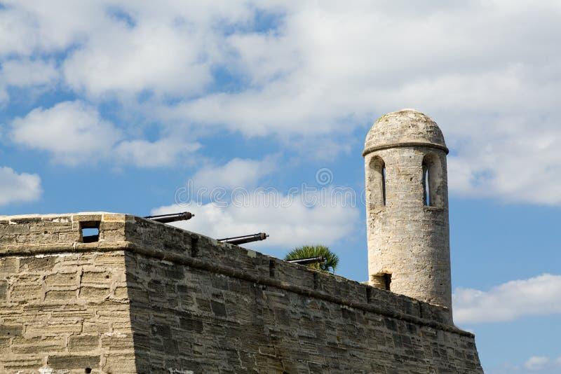 Florida di Castillo de San Marcos St Augustine immagine stock