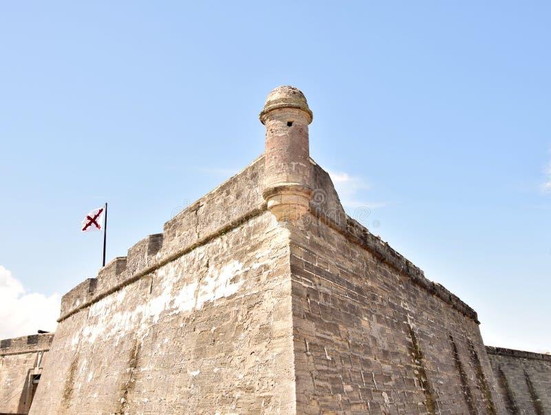 Florida di Castillo de San Marcos St Augustine immagine stock libera da diritti