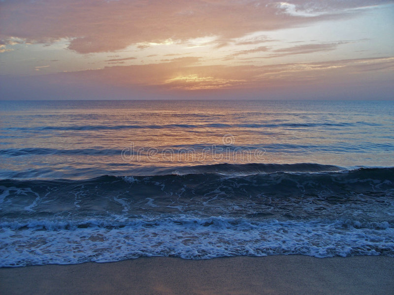 Download Florida East Coast Beach At Dawn 4 Stock Image - Image: 6076765