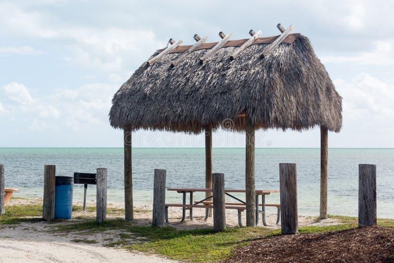 Florida fecha a área de repouso da ponte de sete milhas fotos de stock
