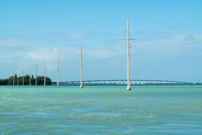 Florida fecha o canal 2 e 5 constroem uma ponte sobre, EUA foto de stock