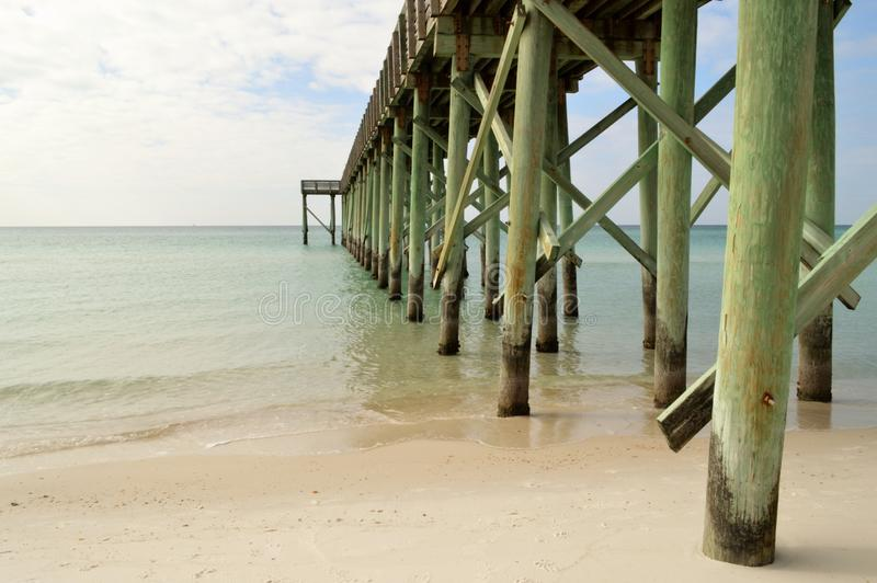 Florida fishing pier royalty free stock photos