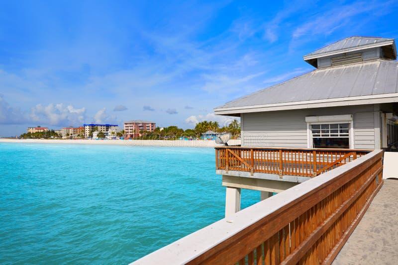 Florida-Fort-Myers Pier-Strand US stockfoto