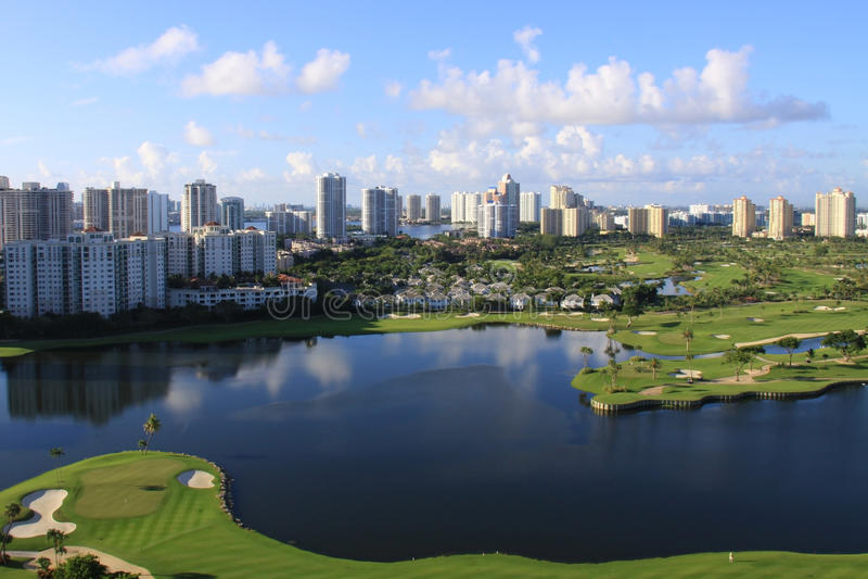 Florida-Golfplatz stockbilder