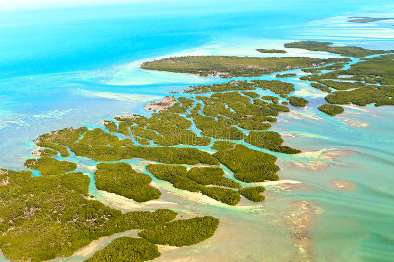 Florida Keys. Aerial View (shot from airplane stock photos